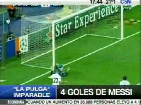 Los 4 goles de Messi al Arsenal