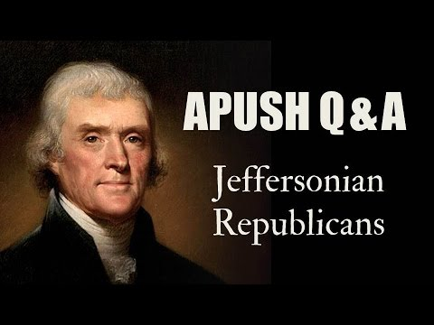 jeffersonian republicans and federalists Historical analysis of politics in the jefferson presidency a republican, and john adams, his federalist opponent  we are all republicans, jefferson said.