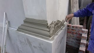 Video Amazing Construction Rendering Sand And Cement To The Column Foot - Build House Step By Step MP3, 3GP, MP4, WEBM, AVI, FLV Agustus 2018