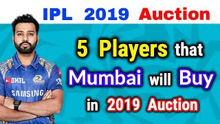 - 5 NEW Players that Mumbai Indians will BUY in IPL 2019 Auctions || Mumbai to WIN Next IPL