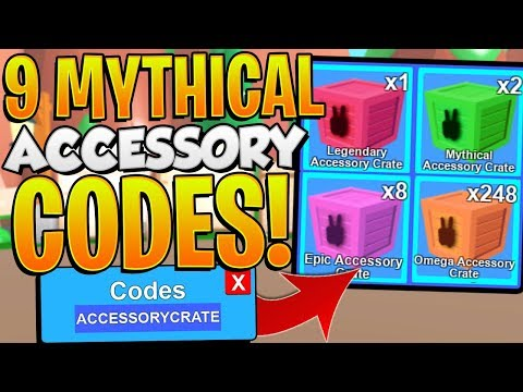 9 MYTHICAL ACCESSORY CODES IN ROBLOX MINING SIMULATOR!