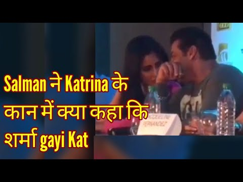 Salman Khan whispers in Katrina Kaif Ears and She