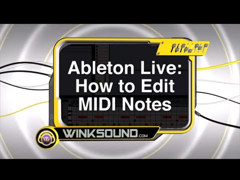 Ableton Live: How To Edit MIDI Notes | WinkSound