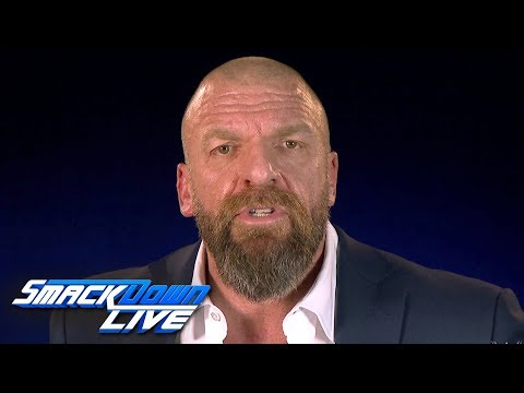 Triple H announces a WWE Championship Elimination Chamber Match: SmackDown LIVE, Jan. 29, 2019