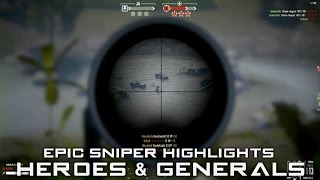 Heroes and Generals ✮ Epic HD Sniper Highlights #3