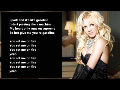 Britney Spears - Gasoline /\ Lyrics On A Screen