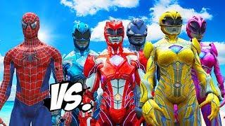 Video SPIDERMAN VS POWER RANGERS - RED, BLUE, YELLOW, PINK, BLACK RANGERS VS SPIDERMAN MP3, 3GP, MP4, WEBM, AVI, FLV September 2018