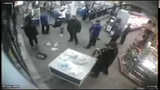 Gang Fight In Supermarket