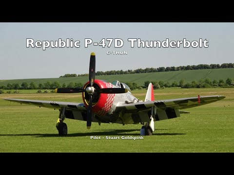 This P-47D wears the WW2 markings...