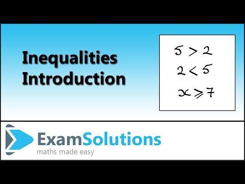 Ungleichheiten - Einleitung: ExamSolutions
