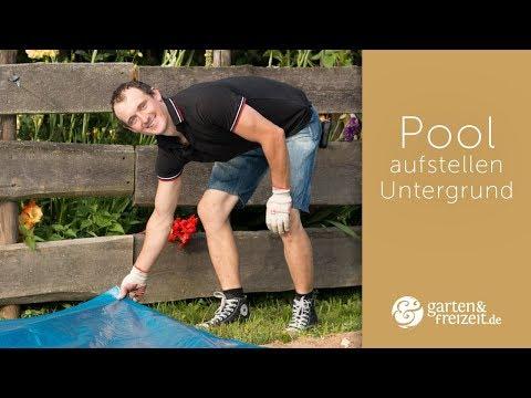 ▶ Pool aufstellen Untergrund – was unter den Pool legen? | Garten-und-Freizeit.de