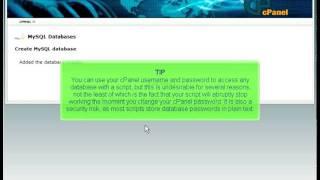 Creating A MySQL Database By Host4Go Tutorials