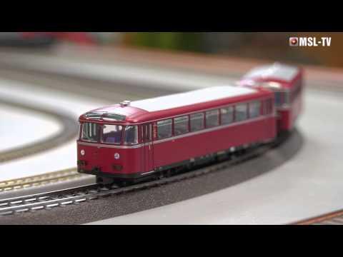 MSL-TV Testbericht Märklin 39950 Schienenbus VT 95.9 mit Beiwagen, H0
