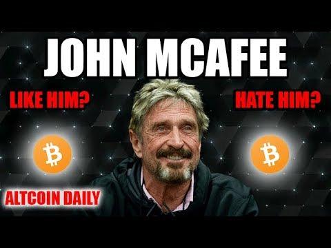 John McAfee. Write Him Off? Or Trust Him? [Future of Bitcoin/Cryptocurrency] (видео)