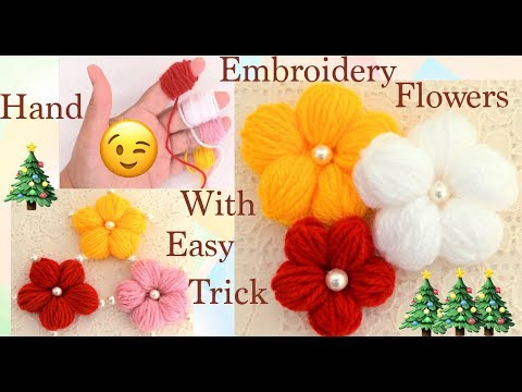 Como Hacer Flores En 3D Hand Embroidery Making Flowers With Simple Trick