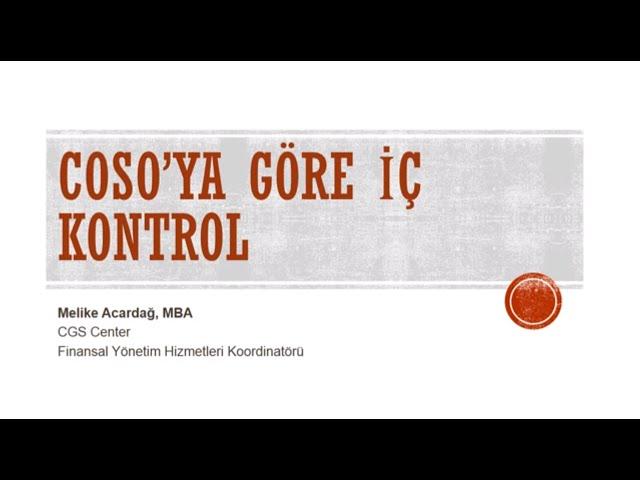COSO'ya Göre İç Kontrol