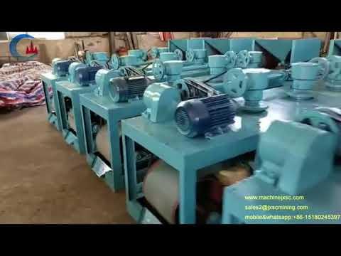 Coltan ore refining machine 16000gauss 3pcs disc dry mangetic separator from JXSC