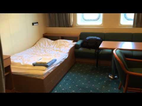My cabin on a cargo ship.