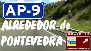Pontevedra Spain  City pictures : AP-9 Autopista del Atlántico , Zona Ria de Pontevedra / Highways in Spain , Pontevedra city