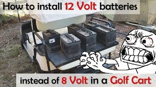 9. Using 12v Batteries in a 48v Golf Cart, instead of 8 / 6 volt battery - Yamaha g19 (and others!)