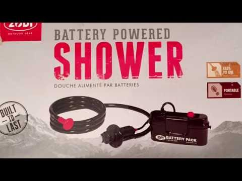 Zodi Outback Gear Battery Powered Camp Shower