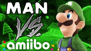 Man VS Amiibo: Luigi