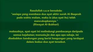 bacaan ayat 285 dan 286 surah al-baqarah untuk amalan sebelum tidur