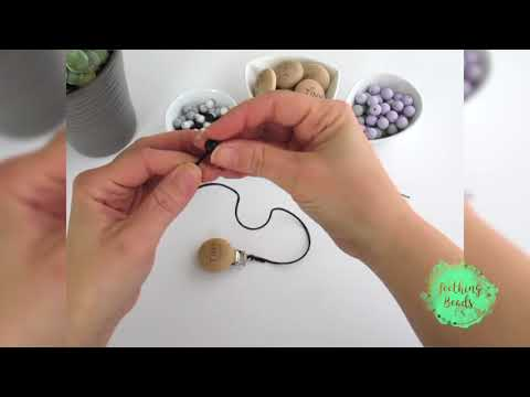 How to Make a Beaded Pacifier Clip