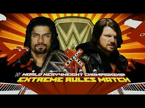 Roman Reigns vs AJ Styles  WWE World Heavyweight Championship Full Match 2016_HD