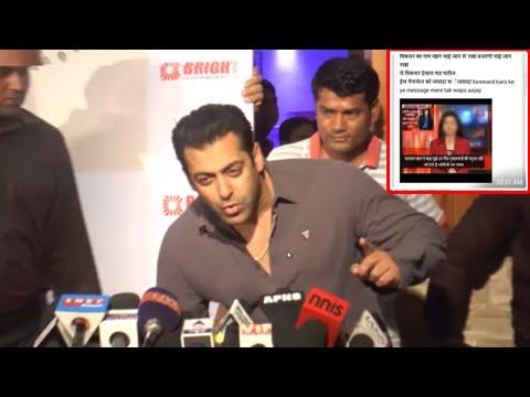 Salman Khan Reacts on a FAKE WhatsApp Post and Soc