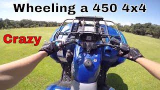 3. Motovlog II Doing wheelies on a kodiak 450 4x4 II New DG exhaust