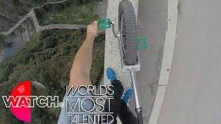 Monocycle extrême, c'est de la folie !
