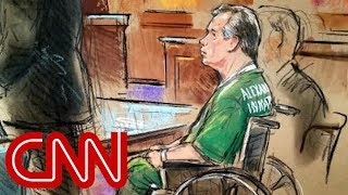 Manafort appears in court in wheelchair