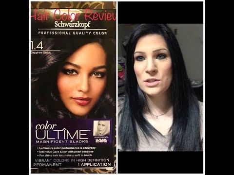 Schwarzkopf sapphire black Hair color Review | Nina Gilhousen