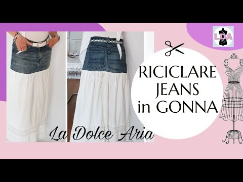 Da jeans a gonna | DIY skirt-SUB