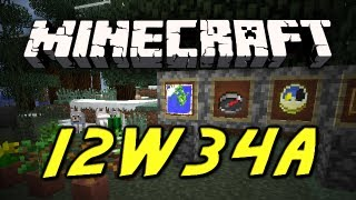 Minecraft: 12w34a Snapshot! [INVISIBILITY POTIONS, ITEM FRAMES, ARMOR DYES AND MORE!]