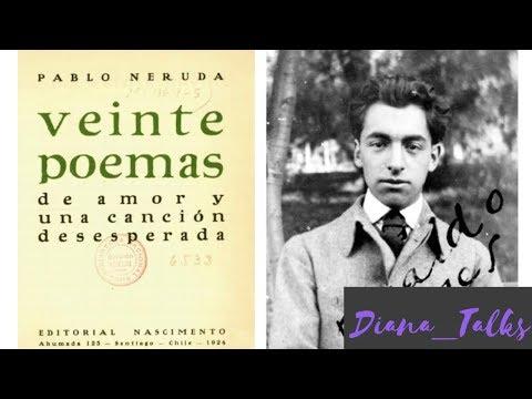 Versos de amor -  #POESIA 20 poemas de amor y una canción desesperada #NERUDA