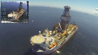 Remote Control Airplane Visits Offshore Drilling Rig