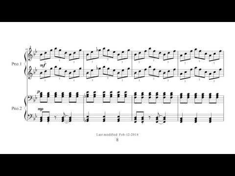 Philip Glass - Duet (Stoker) + Sheet Music