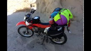 9. 2008 Honda CRF 230L cold start in the desert