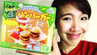 รีวิว ขนมญี่ปุ่นเซ็ตแฮมเบอร์เกอร์ ทำเอง Popin Cookin