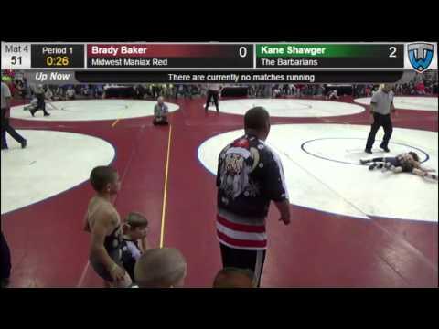 Kane Shawger(Barbarians) vs Brady Baker(Midwest Maniax