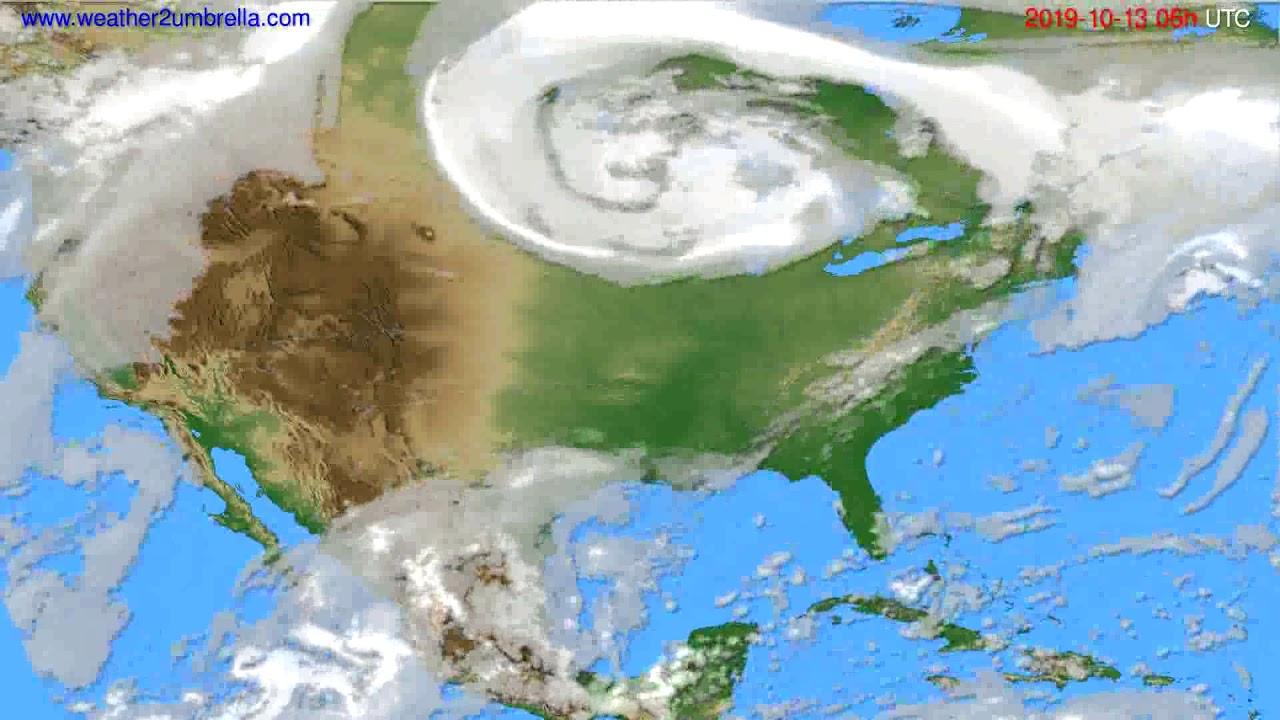 Cloud forecast USA & Canada // modelrun: 00h UTC 2019-10-11