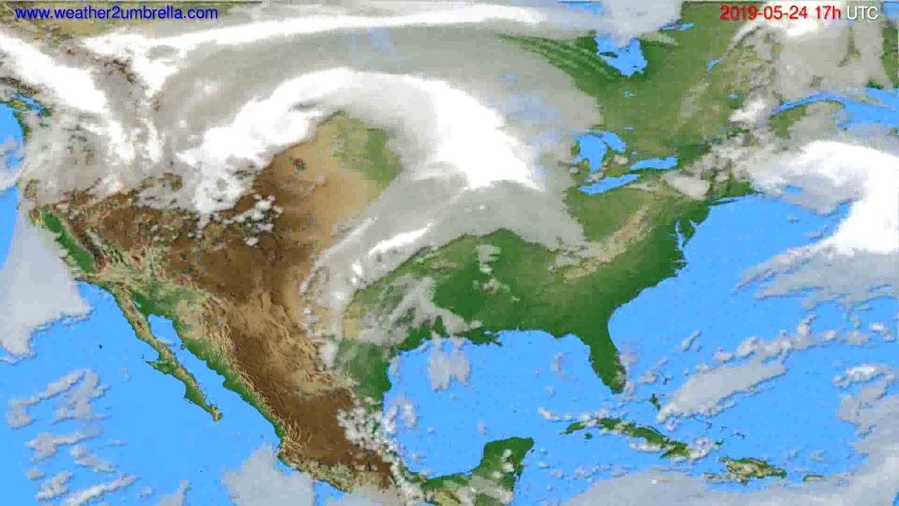 Cloud forecast USA & Canada // modelrun: 00h UTC 2019-05-23