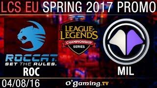 Roccat vs Millenium - Promotion Tournament Spring 2017 - Elimination Round