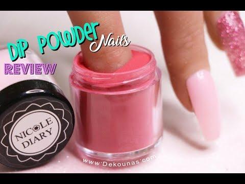 Uñas acrilicas - Dip Powder Nails  Deko Uñas - REVIEW Nicole Diary