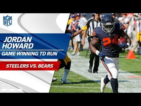 Video: Jordan Howard's Game-Winning TD in OT! | Steelers vs. Bears | NFL Wk 3 Highlights