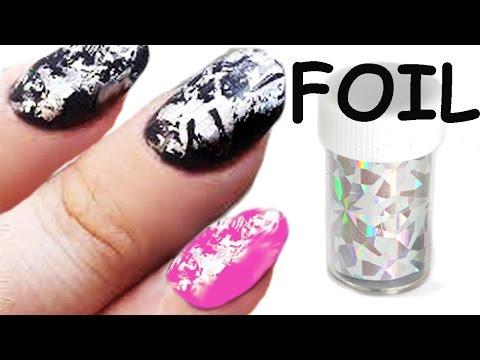 nail art - come applicare i foil per unghie