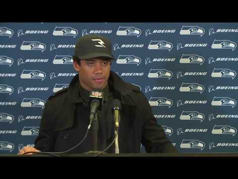 Seahawks Quarterback Russell Wilson at Falcons Postgame Press Conference (видео)