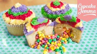 How to make Pinata Cupcakes | Cupcake Jemma - YouTube